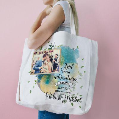 Fotogaver - Personaliseret bryllupstaske