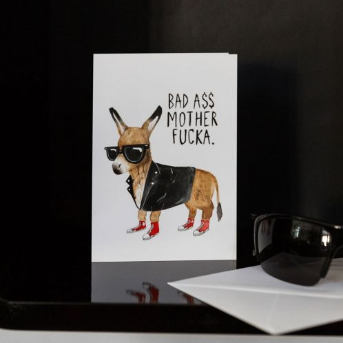 Julegaver - Lykønskningskort - Bad Ass