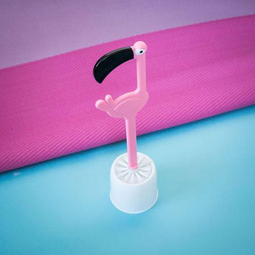 Gaveideer - Flamingo Toiletbørste