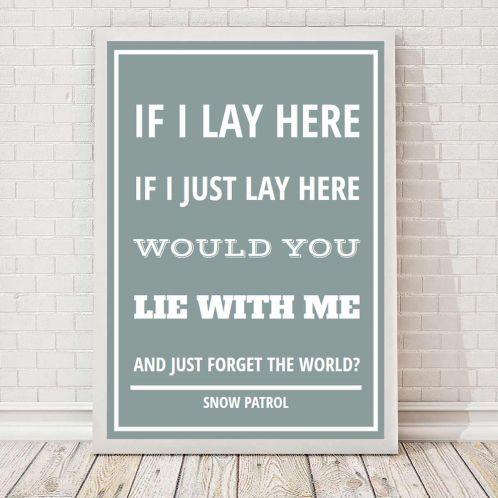 Sangtekst - Personlig Plakat