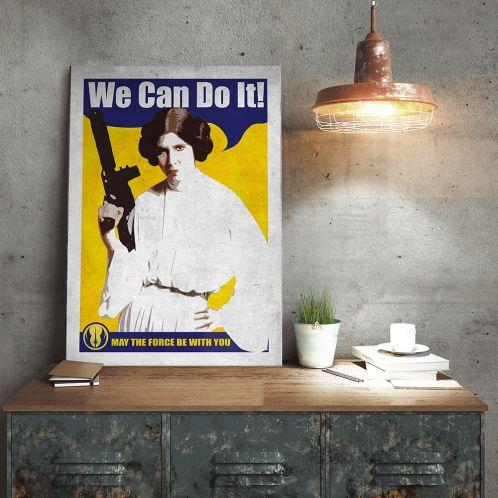 Gaveideer - Star Wars Metal Plakat - Leia