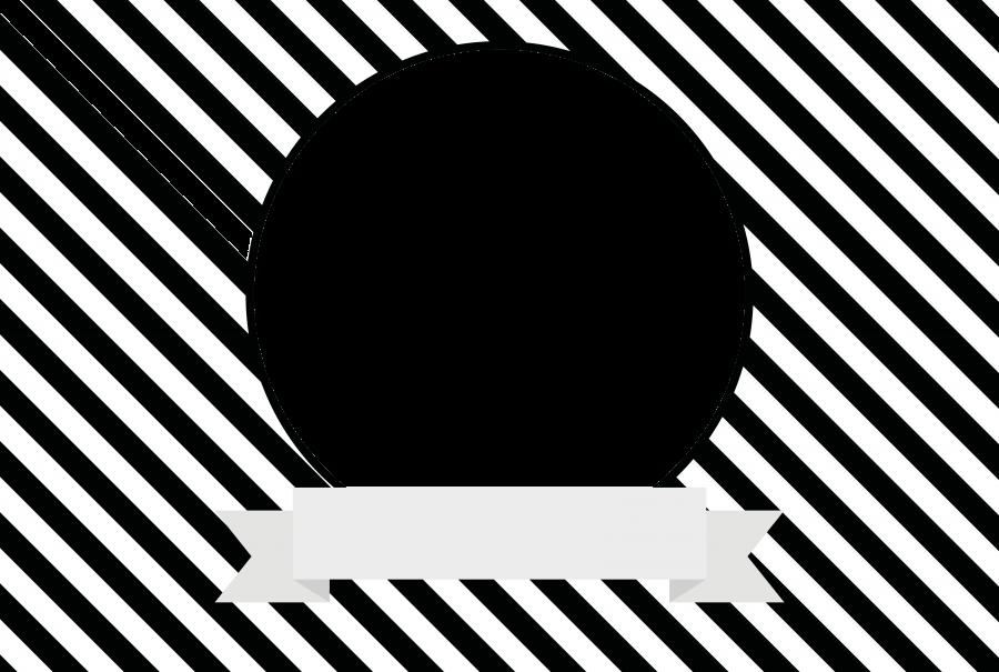 Napfunterlage mit Bild und Text (NUBTXT) - Streifen